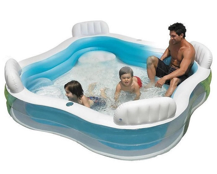 Надувной семейный бассейн Intex 56475 размер 229*229*66 см