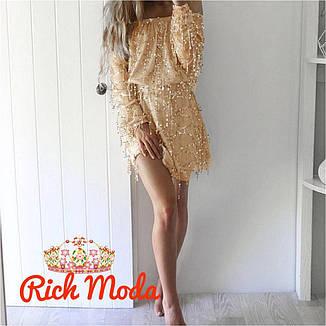Платье женское нарядное вечернее с пайеткой , фото 2