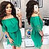 Платье с перфорацией спущенное на плечи  / 9 цветов  арт 6033-476, фото 4