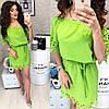 Платье с перфорацией спущенное на плечи  / 9 цветов  арт 6033-476, фото 6