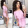 Платье с перфорацией спущенное на плечи  / 9 цветов  арт 6033-476, фото 7
