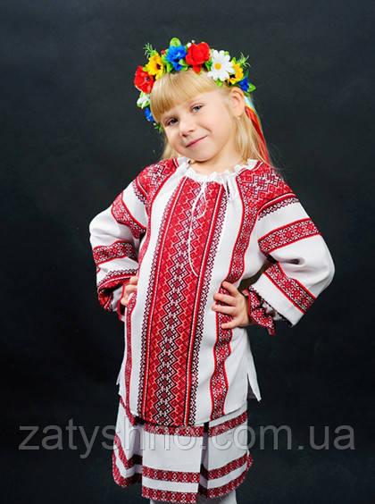 Вышиванка детская с большой вышивкой
