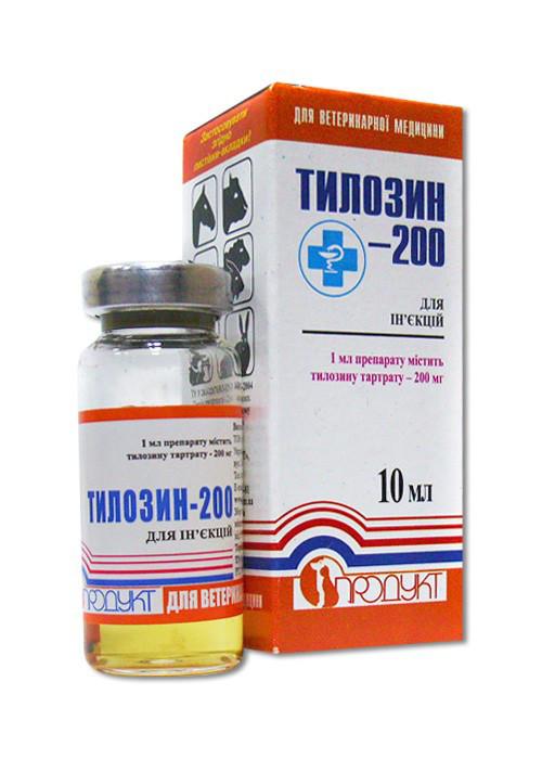 Тилозин-200 10 мл Продукт
