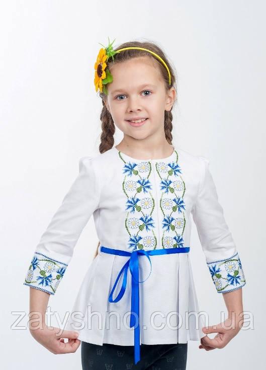 Вышитая детская туника для девочек