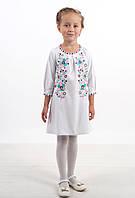 Вышитое платья детское с цветами симпатичное