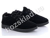 Ботинки женские/мужские черные, на меху (41 р., маломерят)