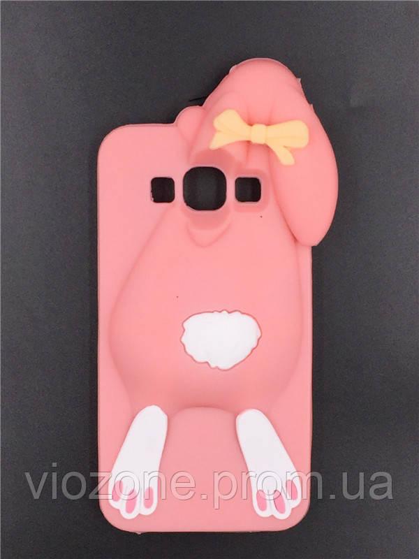 3d Чехол Бампер для Samsung Galaxy Grand Prime / G531 / G530 резиновый Кролик