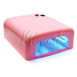 УФ лампа для маникюра 36 вт розовая