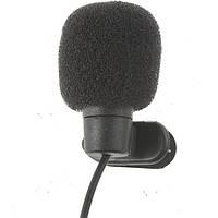 Микрофон  3,5 мм с клипсой  для камеры