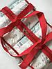 Набор из 3 прозрачных сумок в роддом Mommy Bag сумка - S,M,L - Красные, фото 5