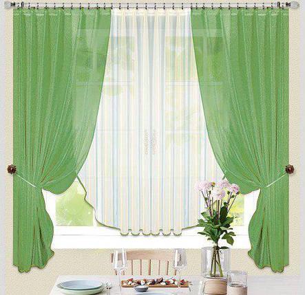 Комплект штор Керолин Трава, кухонные, фото 2