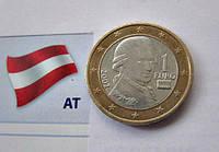 АВСТРИЯ монета 1 Евро 2002 год, фото 1