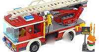 Пожарная часть детский конструктор Lepin 02052 (аналог Lego City 60110), (1029 дет.)