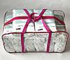 Набор из 4+1 прозрачная сумка в роддом - S,M,L,XL - Розовые, фото 2