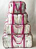 Набор из 4+1 прозрачная сумка в роддом - S,M,L,XL - Розовые, фото 5