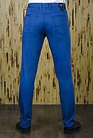 Брюки мужские светло-синие в джинсовом стиле, фото 1