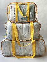 Набор из 3 прозрачных сумок в роддом - S,M,L - Желтые
