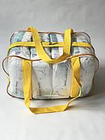 Сумка прозрачная в роддом - Средняя 40*25*20 см Желтая