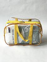 Сумка прозрачная в роддом - Маленькая 31*21*14 см Желтая