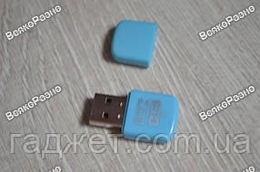 Картридер MicroSD голубого цвета