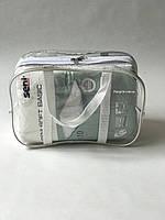 Сумка прозрачная в роддом - Маленькая 31*21*14 см Белая