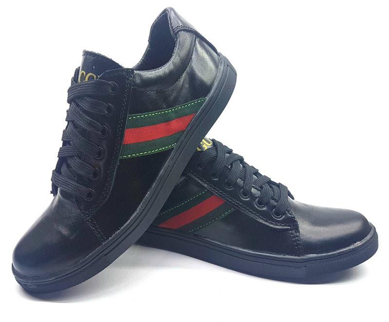 740767f7 Подростковые туфли/кеды Gucci черные 32-39 размеры Uk0033 - Обутик в  Харькове