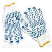 Перчатки FAR с ПВХ точкой.Оптовое предложение (Цена за мешок 600 штук))