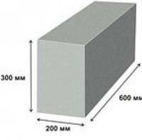 Пеноблок 200×300×600