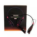 Спортивні бездротові Stereo навушники LG S740T MP3 Headphone, Bluetooth гарнітура чорного кольору, фото 2