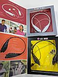 Спортивні бездротові Stereo навушники LG S740T MP3 Headphone, Bluetooth гарнітура чорного кольору, фото 3