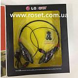 Спортивні бездротові Stereo навушники LG S740T MP3 Headphone, Bluetooth гарнітура чорного кольору, фото 4
