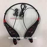 Спортивні бездротові Stereo навушники LG S740T MP3 Headphone, Bluetooth гарнітура чорного кольору, фото 5
