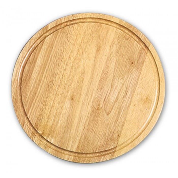 Доска деревянная для подачи 28х2 см. с желобом круглая