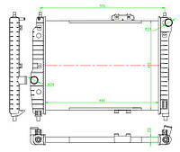 Радиатор системы охлаждения NISSENS 61636 на CHEVROLET AVEO