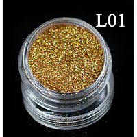 Пыльный сверкающий блеск для дизайна ногтей,L 01