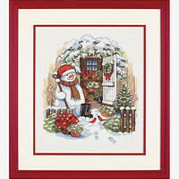 Набор для вышивания крестом Садовый снеговик/Garden Shed Snowman DIMENSIONS 08817