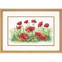 Набор для вышивания крестом Поле маков/Field of Poppies DIMENSIONS 03237