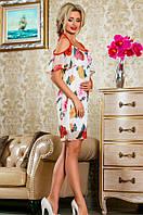 Летнее красивое платье в цветочек Д-1481