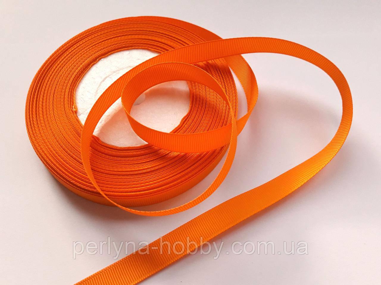 Стрічка репсова 13 мм  оранжева, на метраж, ціна за 1 метр