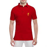 Футболка Поло с принтом Ливерпуль (красная)