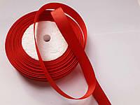 Стрічка репсова 13 мм ( 22 метри в рулоні)червона