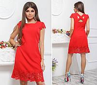 Летнее женское платье  с отделкой из кружева раз. 42,44,46