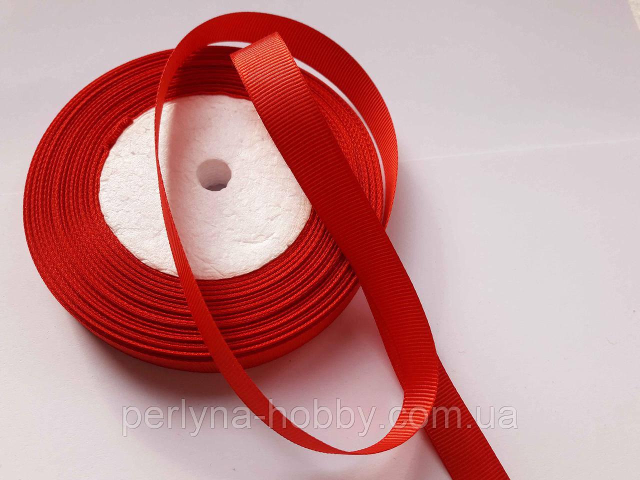 Тесьма лента репсовая Стрічка репсова 13 мм червона, на метраж, ціна за 1 метр