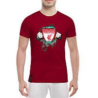 Футболка с принтом Ливерпуль (красная)