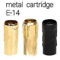 Декоративная проставка из металла на стандартный патрон Е-14  (70мм) / Черный / Золото / Латунь /