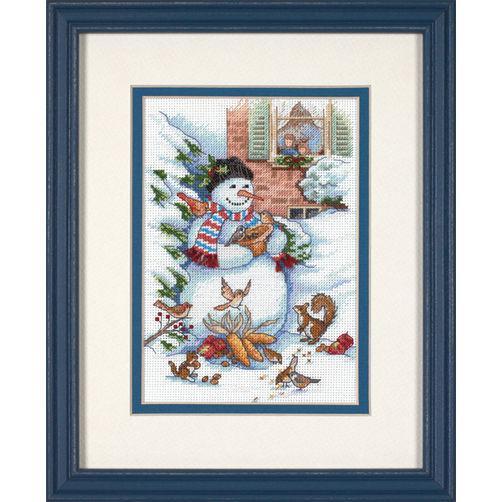 Набор для вышивания крестом Снеговик и друзья/Snowman & Friends DIMENSIONS 08801