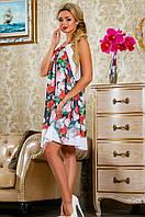 Летнее красивое платье в цветочек Д-1484