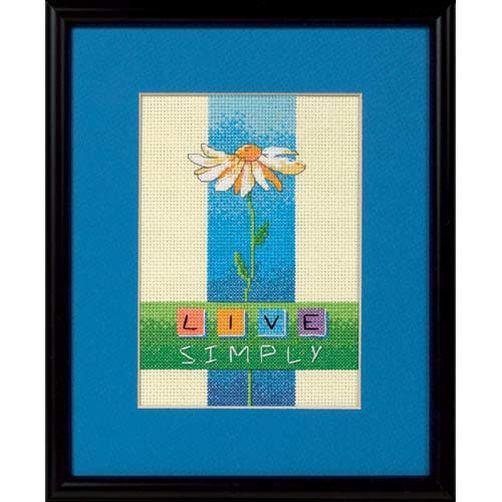 Набор для вышивания крестом Жить просто/Live Simply DIMENSIONS 06975