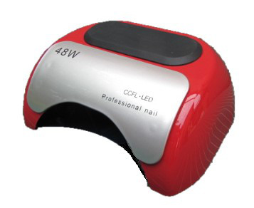 LED + CCFL лампа гибрид на 48 вт, для гель-лаков и для геля с таймером 10, 30 и 60 сек красная без коробки