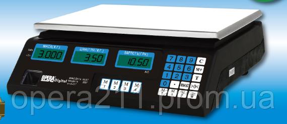 Торговые весы на YZ-208B ACS 50кг-6V (OPERA-DIGITAL)